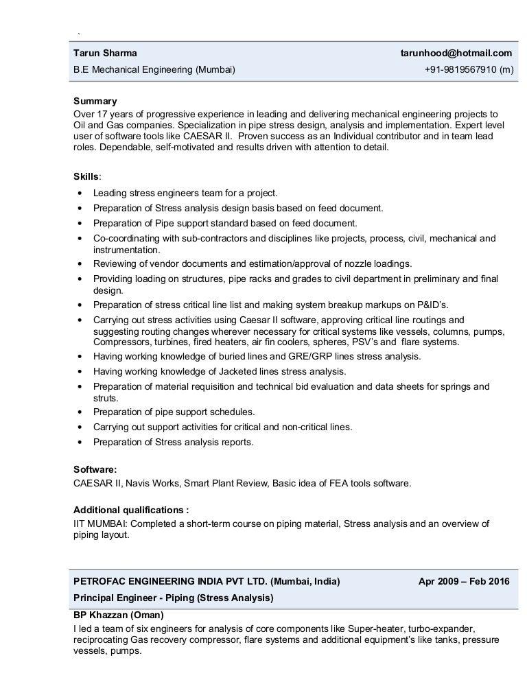 resume - tarun sharma