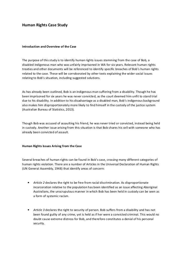 international human rights case studies