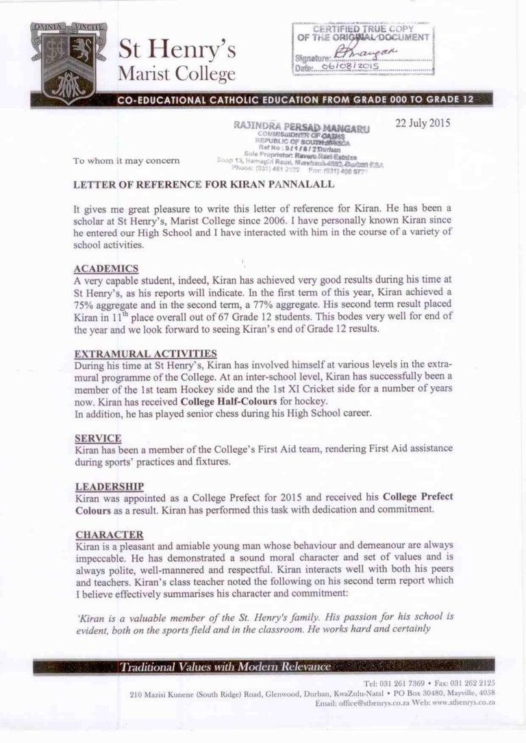Reference letter kiran aljukfo Choice Image
