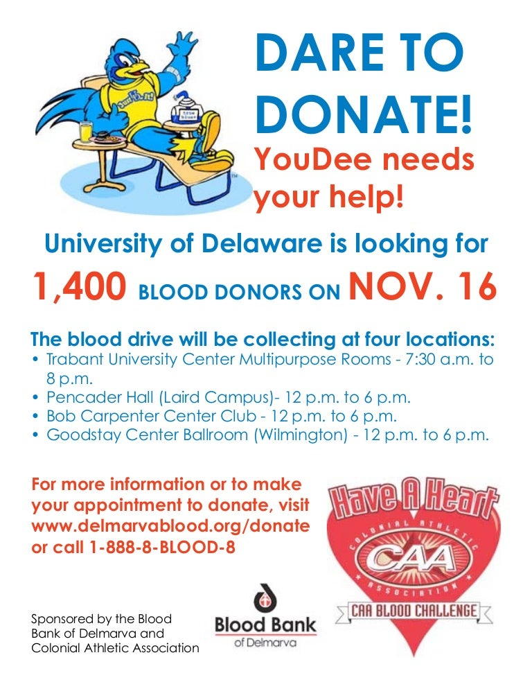 sample blood drive flyer