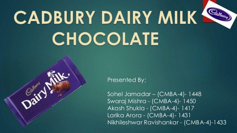 case study on cadbury dairy milk ppt