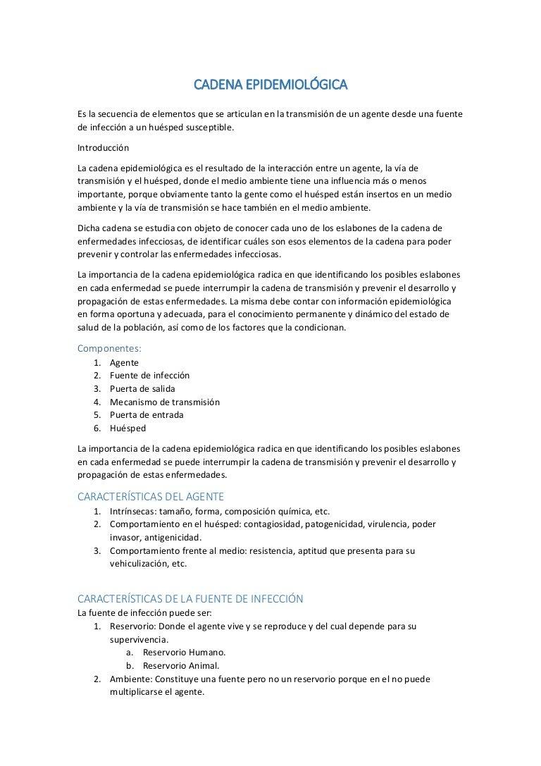 Cadena epidemiológica y descripción de brote 95929cd2051