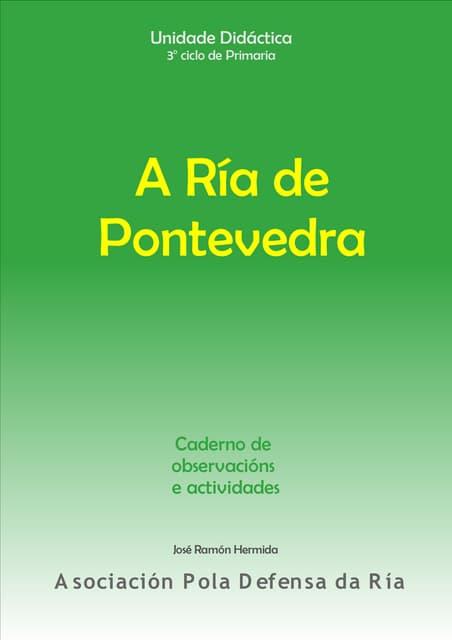 A Ría de Pontevedra. Caderno de observacións e actividades