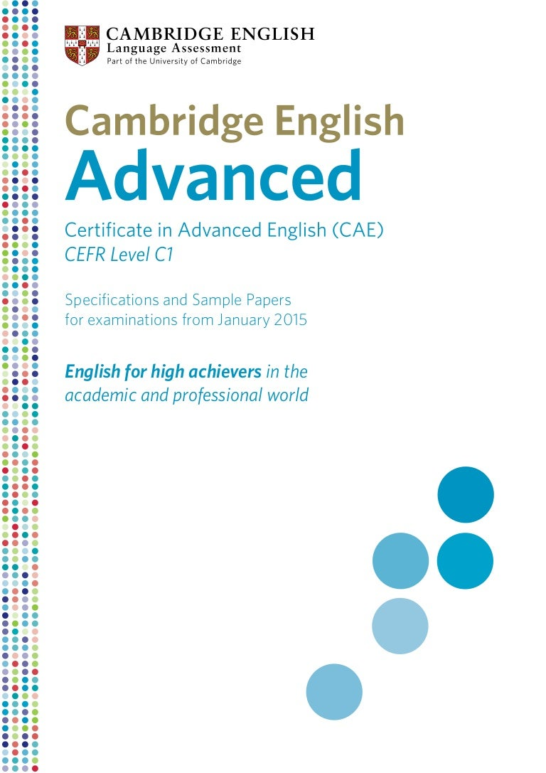 Certificate In Advanced English Pdf