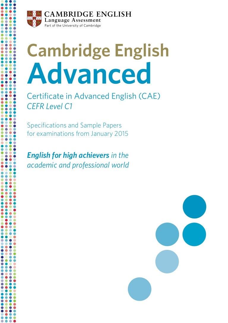 Certificate In Advanced English Pdf
