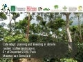 Cafe adapt: Planning and investing in climate resilient coffee landscapes