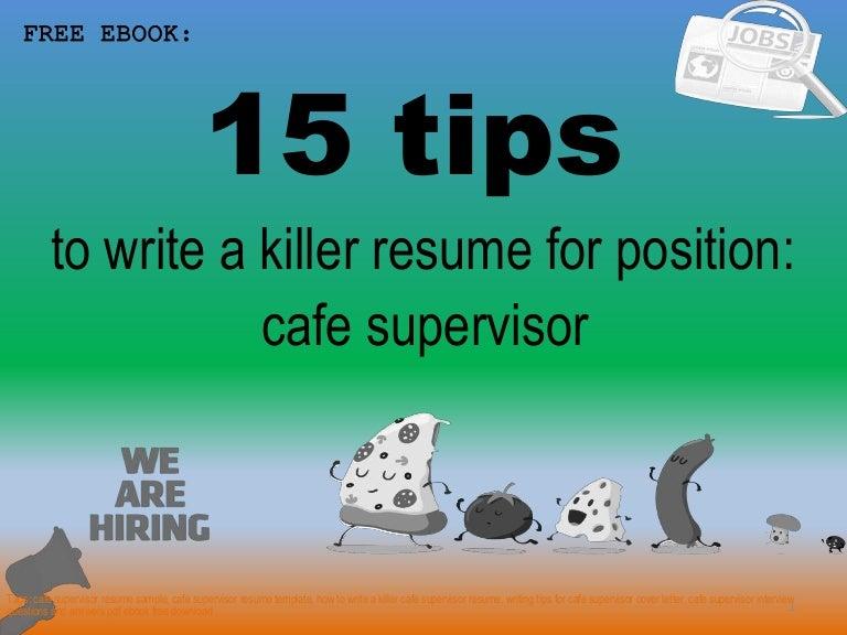 Cafe supervisor resume sample pdf ebook free download