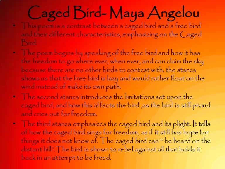 Caged bird maya angelou