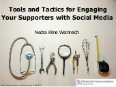 Tools and Tactics for Engaging Your Supporters with Social Media