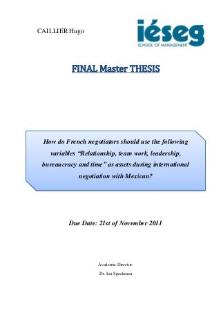 Are graduate students going for a Master's degree required to do a thesis project and paper?