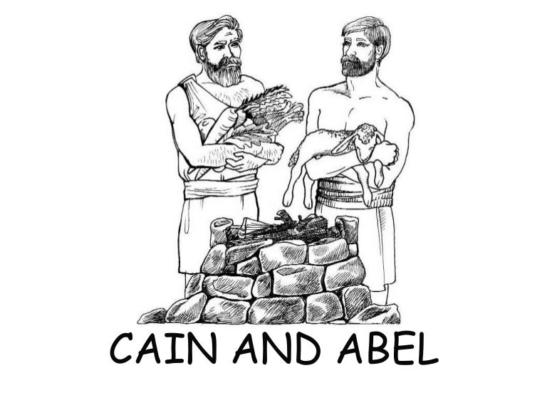cain and abel - Bible Coloring Pages Cain Abel