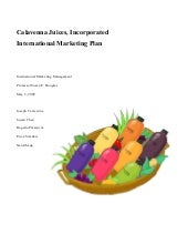 Calavenna Juices International Marketing Plan