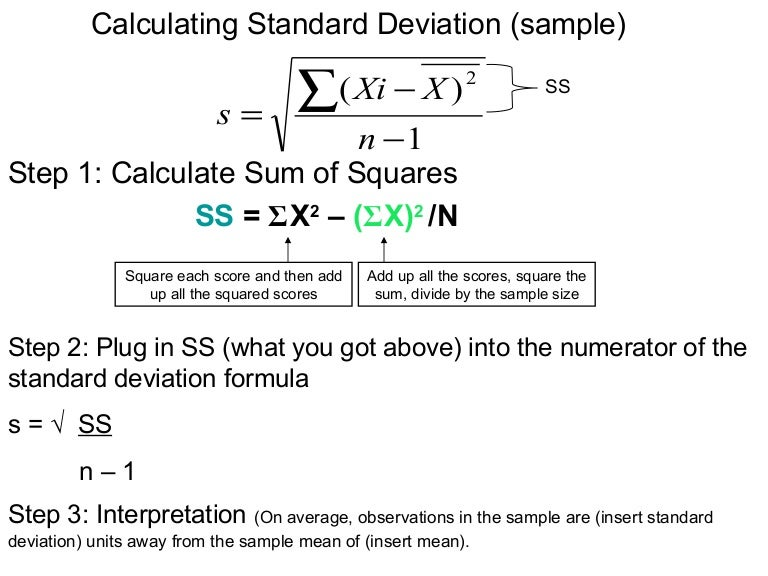 Calculating standard deviation sample ccuart Image collections