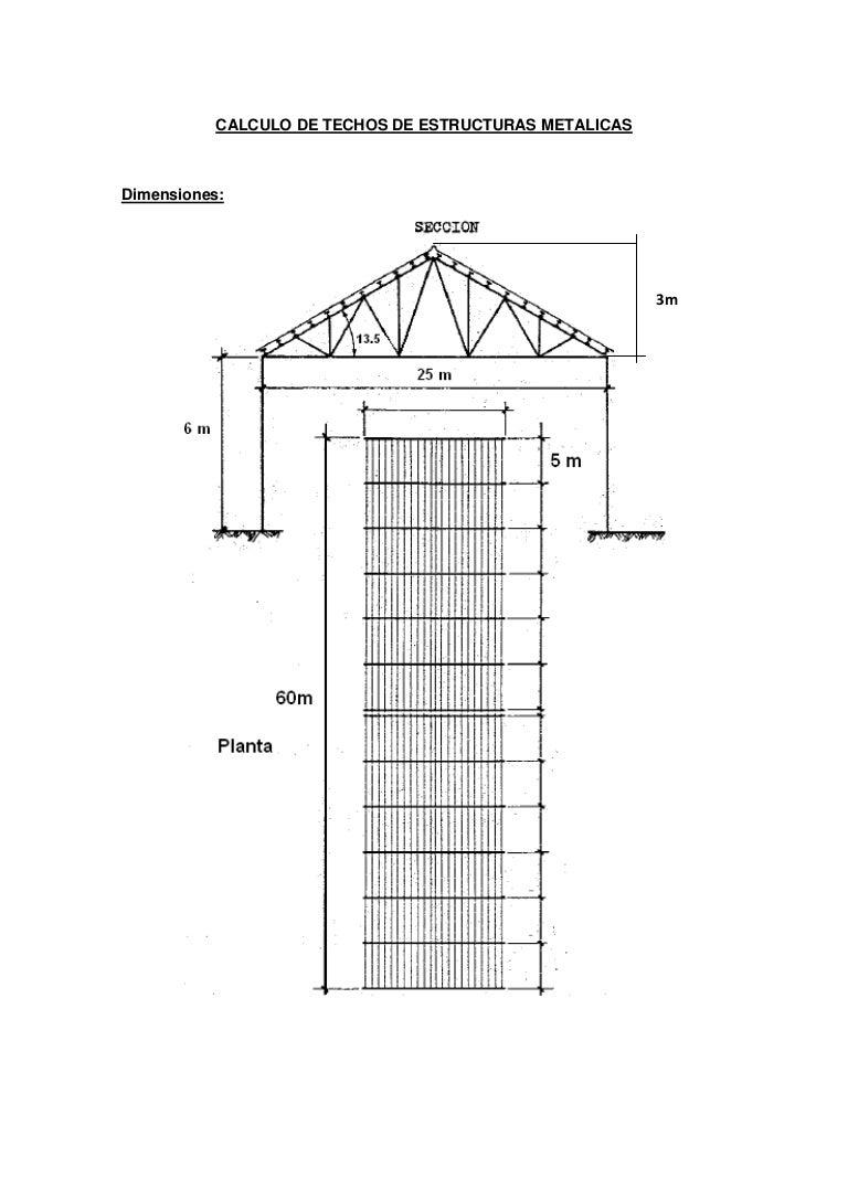 Calculo de techos de estructuras metalicas ((hojas de calculos galpon…