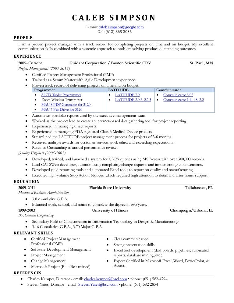 Scrum Master Resume. Sample Resume For Accounting Graduate With