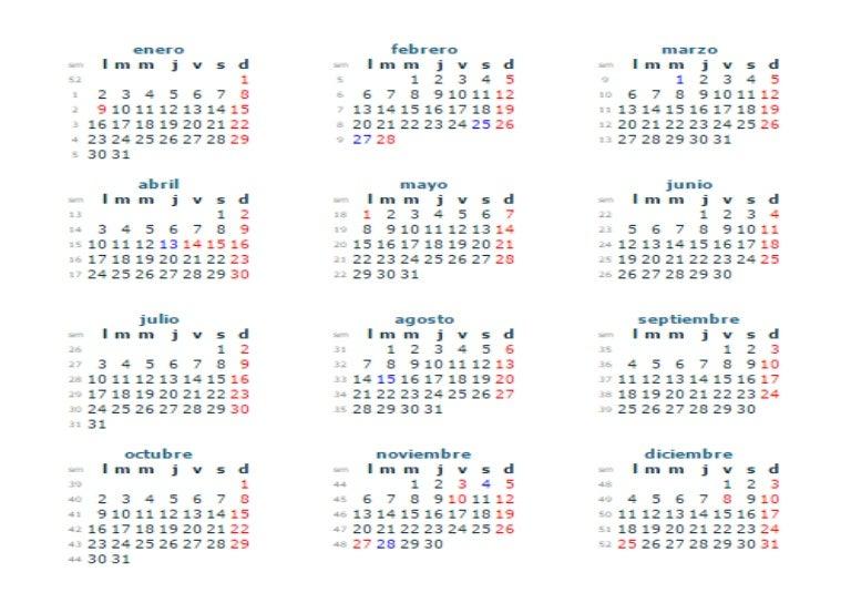 Calendario 2017 Colombia.Calendario 2017