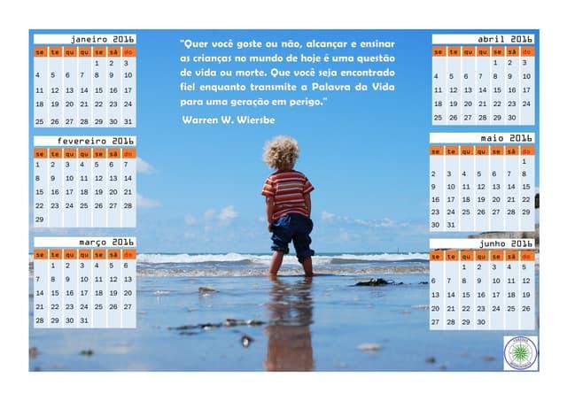 Calendário Missionário Crianças 2016