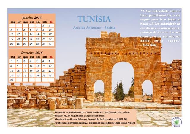 Calendário Missionário Países 2016