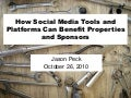 How Social Media Tools Can Benefit Properties and Sponsors