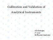Calibration and validation of analytical instruments