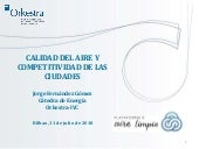 Calidad del Aire y Competitividad de las Ciudades - Jorge Fernández