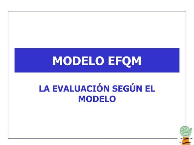 Calidad Total y modelo EFQM