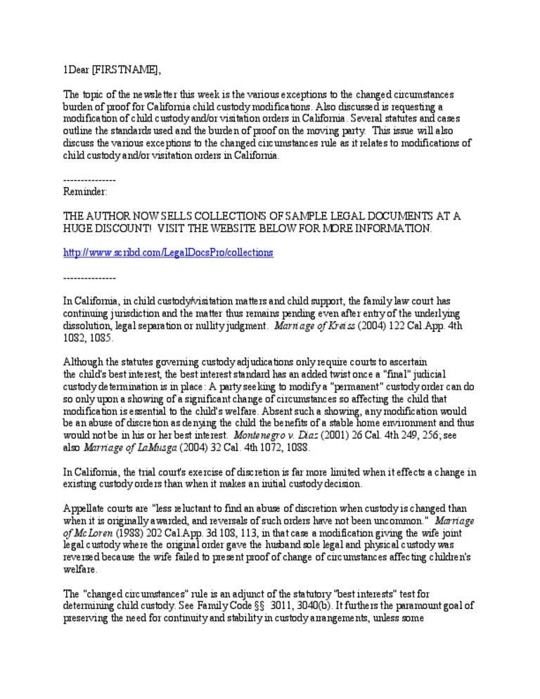 Modification Of Child Support Letter Samples from cdn.slidesharecdn.com