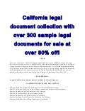 California legal document collection for sale