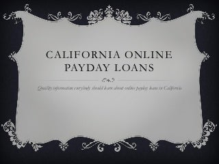 California online payday loans