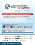 Call Center Week presents The Summit