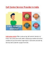 Call center service provider in india