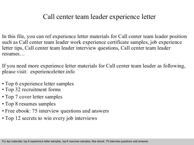 team handling experience resume