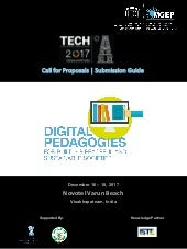 Call for proposals. Digital Pedagogies for Building Peaceful and  Sustainable Societies.