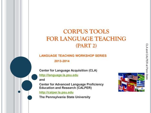 Corpus Tools for Language Teaching