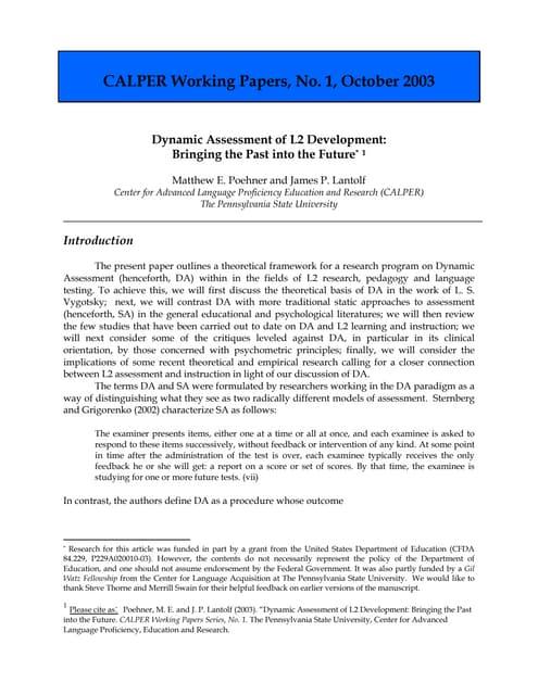 Poehner_Lantolf_2003_Dynamic_assessment_of_L2_development_CALPERWP