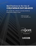 Best Practices in the Use of Columnar Databases