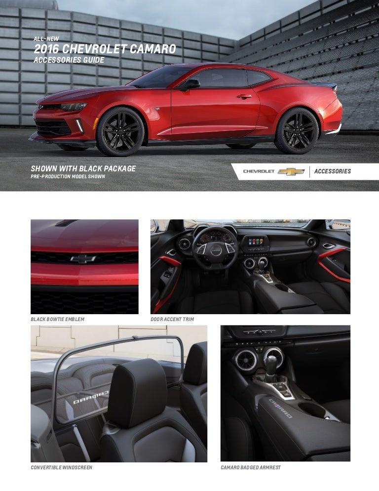 2016 Chevrolet Camaro Accesories Guide