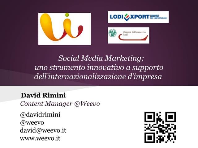 2/2 LodiExport | Social Media Marketing e mercati esteri.