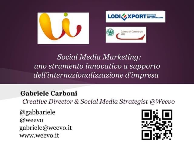 1/2 LodiExport | Social Media Marketing e mercati esteri