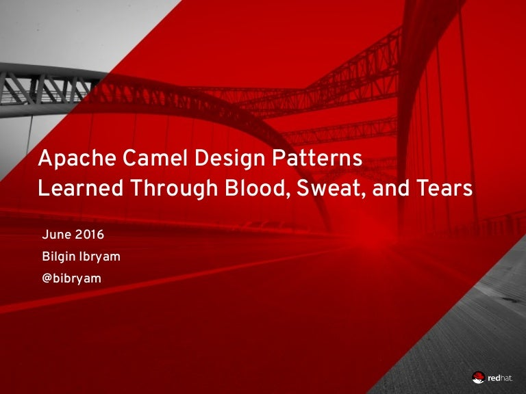 . Camel Desing Patterns Learned Through Blood  Sweat  and Tears