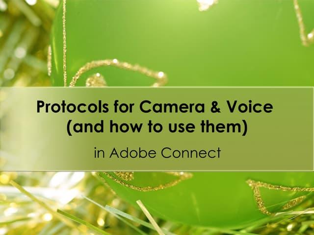 Camera & Voice Protocols