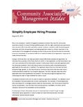 Simplify Employee Hiring Process from Community Association Management Insider