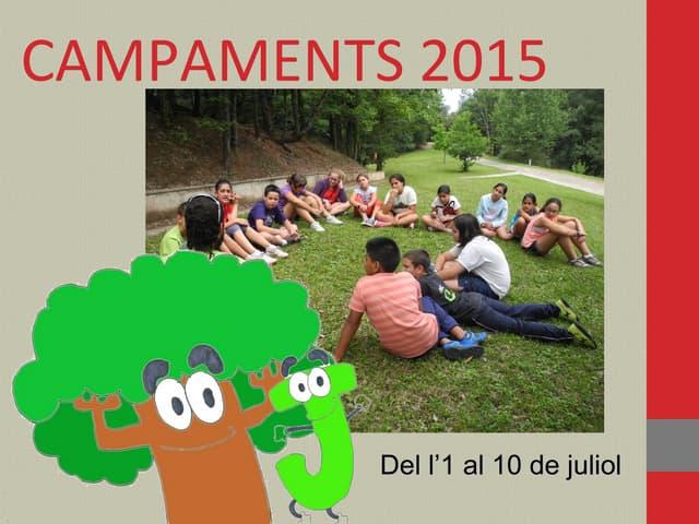 Campaments Raïdos i Joves 2015