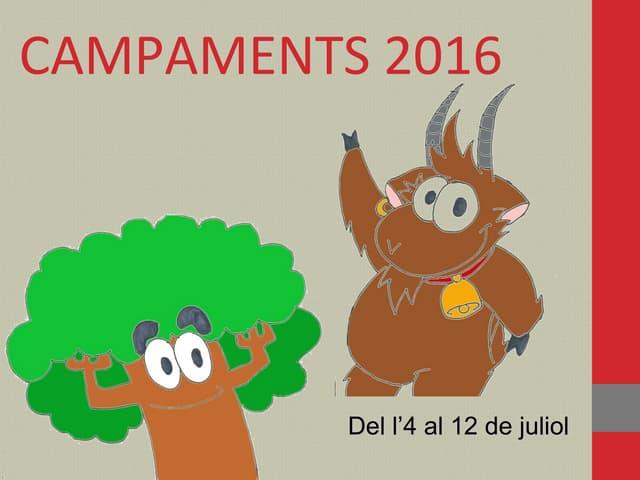 Campaments Isards i Raïdos 2016
