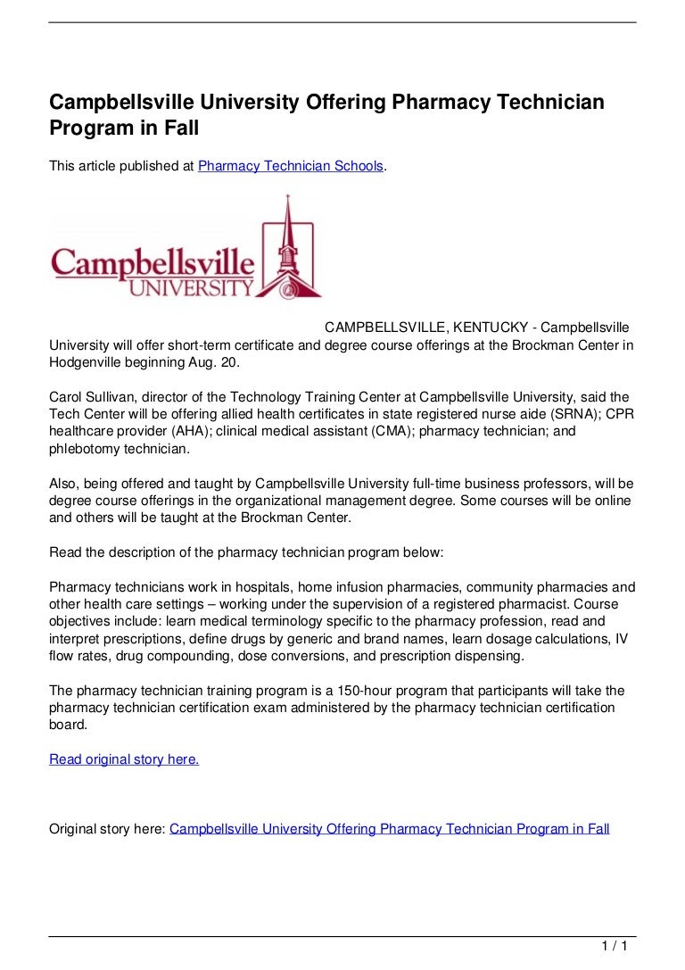 Campbellsville university offering pharmacy technician program in fall 120721102122 phpapp01 thumbnail 4gcb1342866095 1betcityfo Choice Image