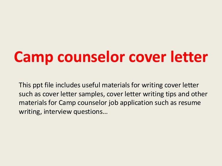 sample cover letter for counselor