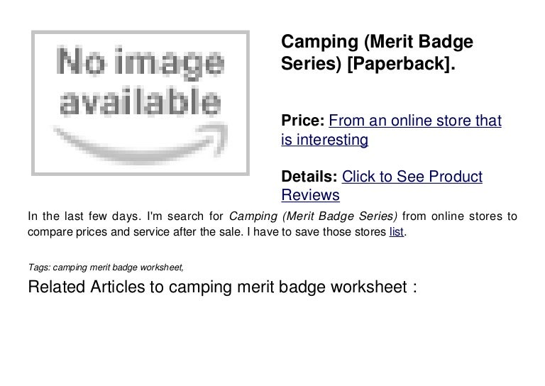 Bsa Camping Merit Badge Worksheet – Family Life Merit Badge Worksheet