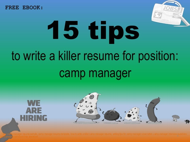Camp manager resume sample pdf ebook free download