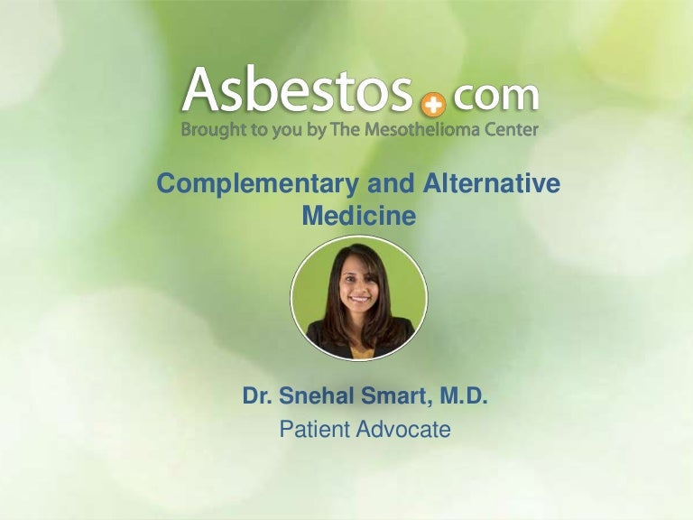 The Mesothelioma Center S March 2015 Support Group Complementary An