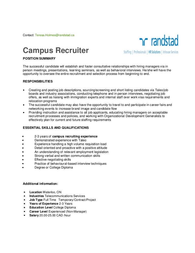 Campus Recruiter Waterloo